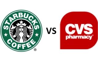 cvs vs starbucks